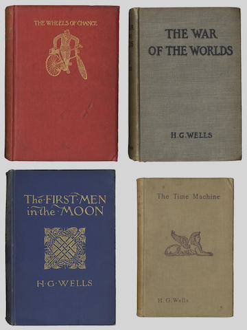 WELLS (H.G.) The First Men in the Moon, FIRST EDITION, FIRST ISSUE