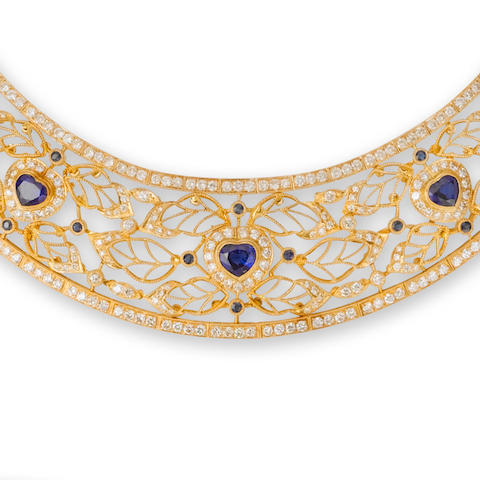 A sapphire and diamond parure, by Dianoor