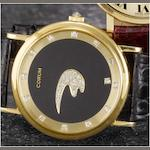 Corum. A fine 18ct gold diamond set Mystery watch with fitted box and papers  Case No.341392, 1990s