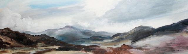 John Hitchens (British, born 1940) Cairngorm Valleys