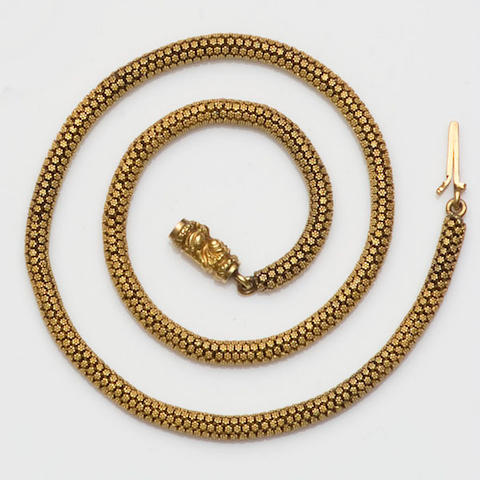 A 19th century collar necklace