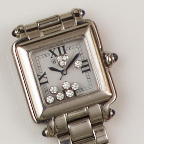 Chopard: A 'Happy Sport' stainless steel lady's wristwatch