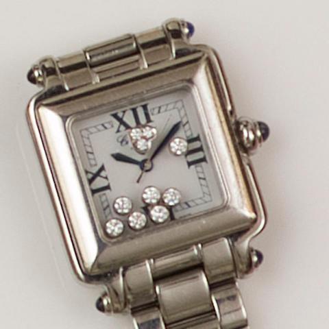 Chopard: A 'Happy Sport' stainless steel lady's wristwatch