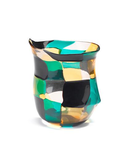 Fulvio Bianconi for Venini, a 'Pezzato' vase, designed 1950-51