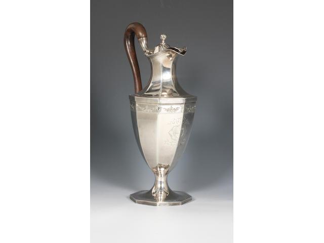 A George III silver ewer By Peter and Ann Bateman, 1796,