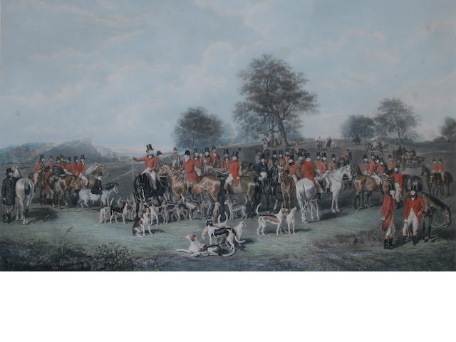 "Charles George Lewis (British, 1808-1880) after Henry Barraud engraving, ""The Cheshire Hunt"","