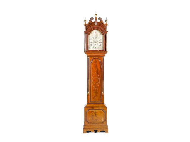 A late 19th century quarter chiming longcase clock in a late 18th century mahogany case Quartermaine, Aylesbury