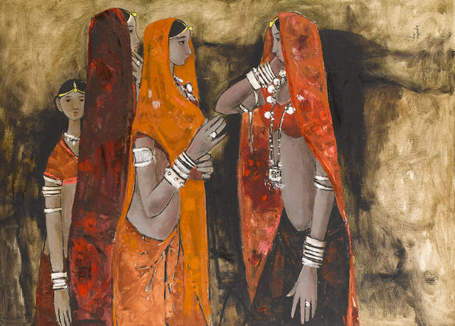 B. Prabha (India, 1933-2001) Rajasthani Girls