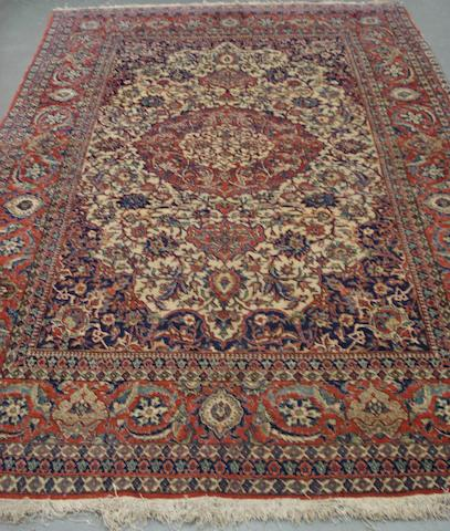An Isfahan rug Central Persia,