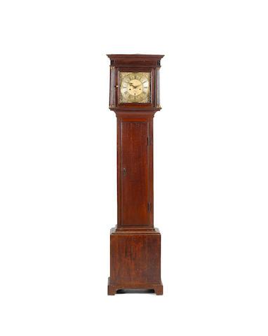 A mid 18th century oak longcase clock Harry Bush, Wincanton