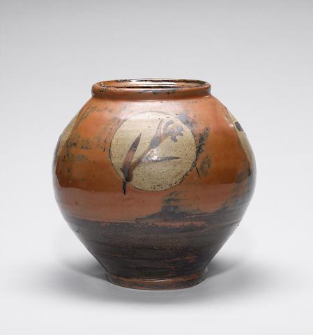 Hamada Shoji a large globular Vase Height 27.5cm (10 3/4in.)