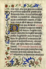 ILLUMINATED MANUSCRIPT LEAF A collection of five illuminated manuscript leaves on vellum, comprising