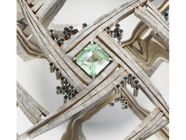 GERALD BENNEY : A silver centrepiece / rosebowl, London 1967,