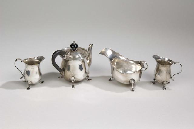 An Edwardian batchelor's teapot maker's mark rubbed, Birmingham 1903,