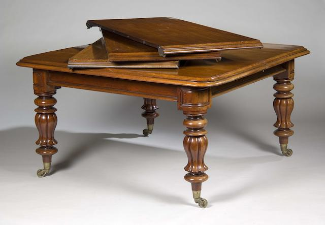 An early Victorian mahogany extending dining table