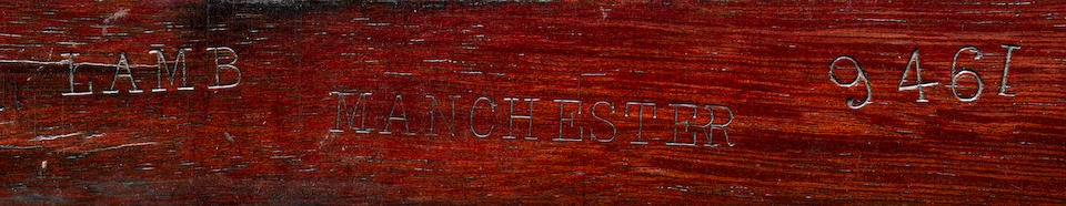 A fine mid Victorian ebony, purple wood, sycamore, ivory marquetry Credenzaby Lamb of Manchester