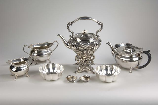 A quantity of silver and plated wares various dates and makers,