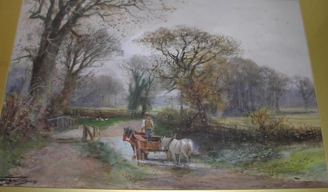 Henry Charles Fox Rural scene, 36 x 54cm.