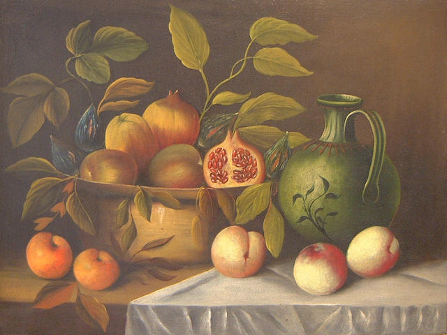 Continental School, 18th Century Still life with fruit and ewer (And another - a pair)