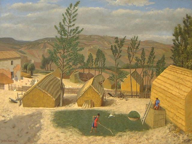 John Aldridge (British, 1905-1983) Farming scene, Majorca