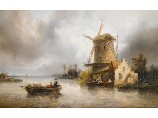 François-Étienne Musin (Belgian, 1820-1888) Avant l'orage