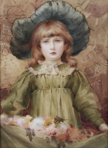 Maude Goodman (British, 1860-1938) A flower girl,