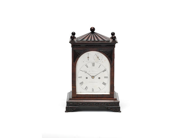 An early 19th Century rosewood bracket clock James Tupman, Grt Russell St, Bloomsbury