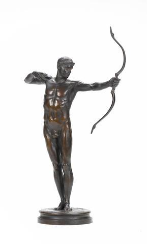 Sir William Hamo Thornycroft, English (1850-1925) A bronze figure entitled 'Teucer'