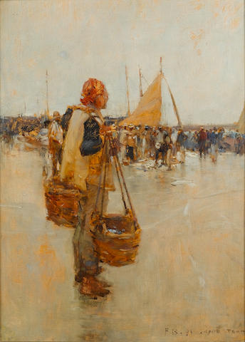 Frank (Sir) Brangwyn (British, 1867-1956) The fish market, Cape Town