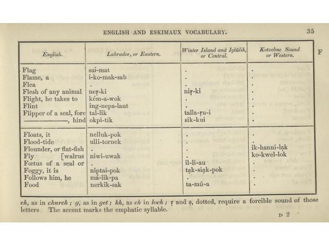 INUIT Eskimaux and English Vocabulary
