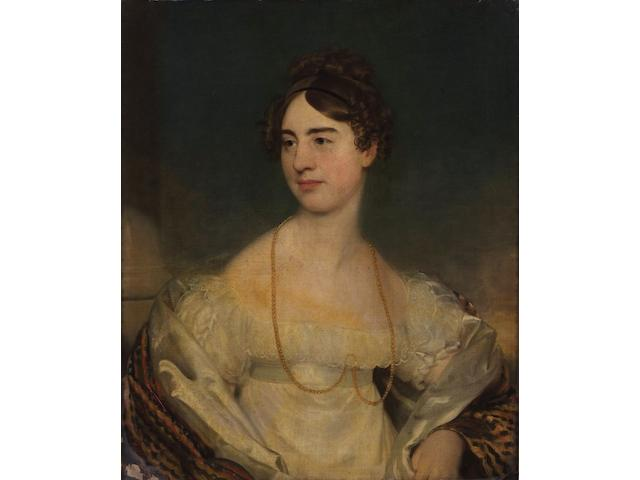 English School (early 19th Century) Portrait of a young lady, 75 x 62cm,