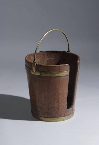A George III mahogany plate bucket