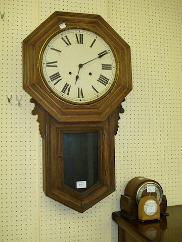 A drop dial wall clock,