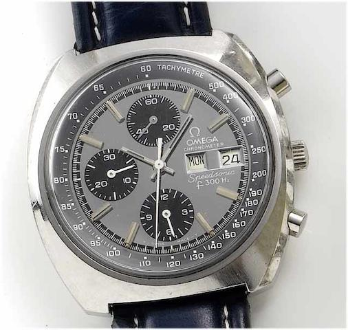 Omega. A stainless steel centre seconds calendar chronograph wristwatch  Speedsonic, 1970's