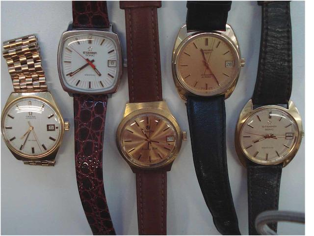 A lot of 5 various wristwatches  5