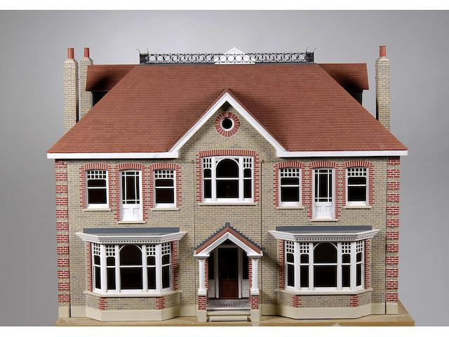 A scratch built 1/12 scale model of a large London town house
