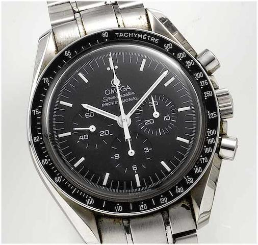 Omega. A stainless steel chronograph wristwatch Speedmaster, 1990's