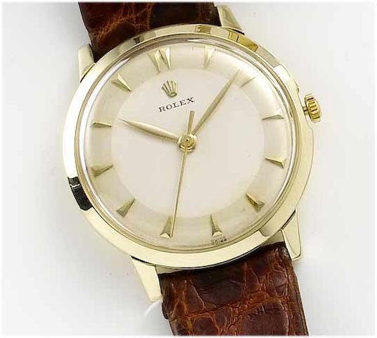 Rolex. A 14ct gold centre seconds wristwatch 1960's