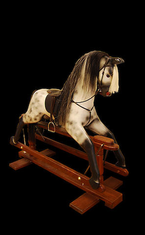 A painted rocking horse