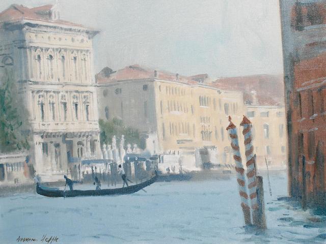Norman Hepple (British, 1908-1994) Venetian canal scene