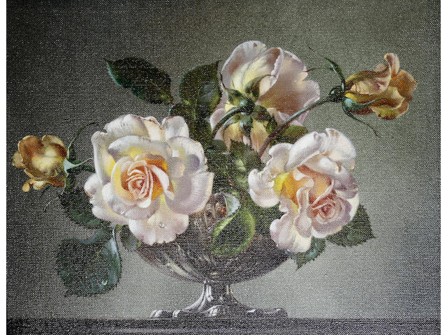 Cecil Kennedy (British, 1905-1997) Pink roses