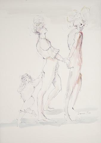 Leonor Fini (Italian, 1907-1996) A surreal procession