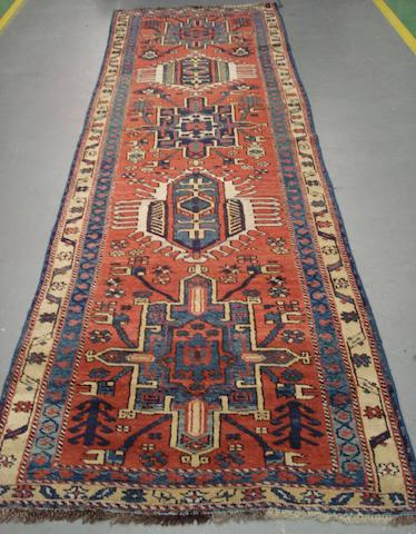 A Heriz runner North West Persia, 10 ft x 2 ft 11 in (305 x 89 cm)