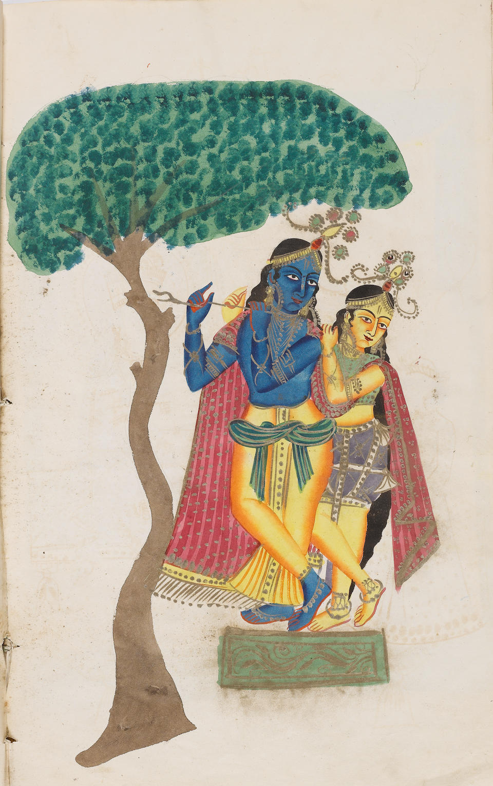 An album of twenty-seven watercolours depicting deities Kalighat, circa 1860-70