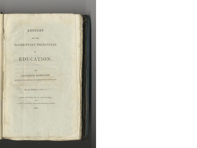 HAMILTON (ELIZABETH) Letters on the Elementary Principles of Education, 2 vol.