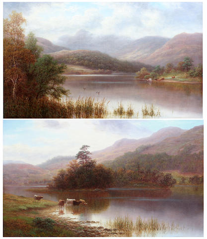 William Mellor (British, 1851-1931) Rydal lake, Westmorland; Langdale Pikes ((2))