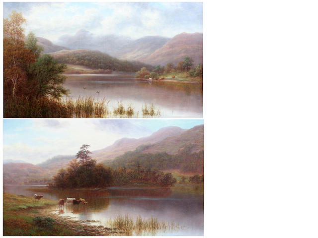 William Mellor (British, 1851-1931) Rydal lake, Westmorland; Langdale Pikes