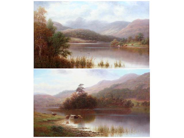 William Mellor (British, 1851-1931) Rydal lake, Westmorland; Langdale Pikes ((2))