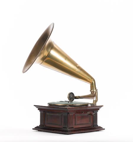 A Senior Monarch horn Gramophone,