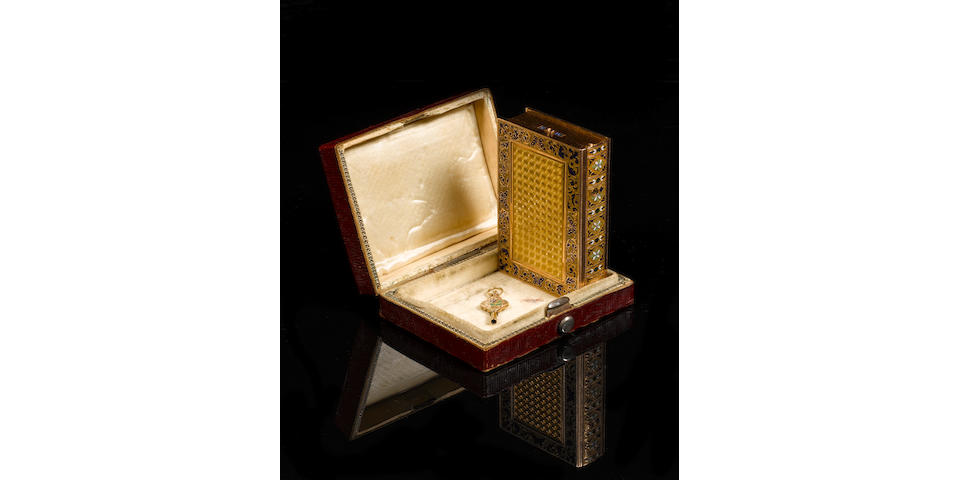 An important and fine gold and enamel musical snuffbox in the form of a book, Swiss, circa 1815, the movement signed Nicole & Meylan a` Genéve, lerit, the case most probably by Piguet,